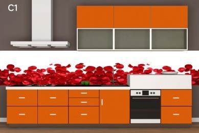 Mutfak tezgah arası cam panel, tezgah arası cam panel, tezgah arası cam, mutfak cam, resimli mutfak camları